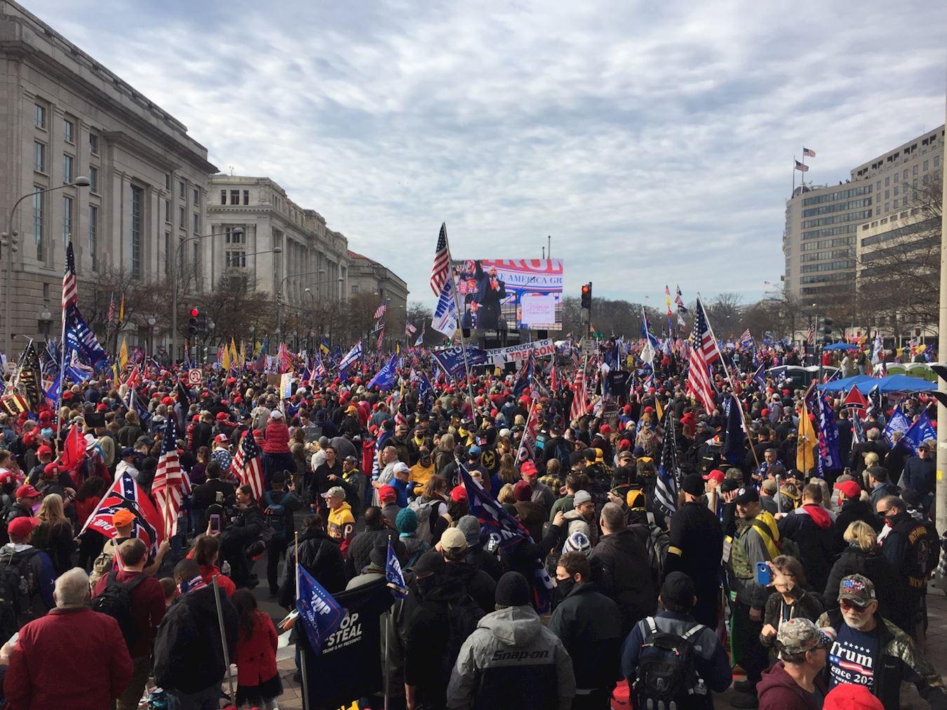 2020年12月13日,華府大型活動抗議大選舞弊,支持特朗普總統。(大紀元)