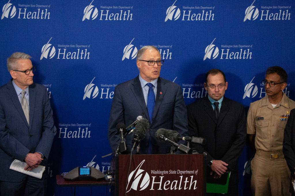 2020年3月2日,美國華盛頓州宣佈進入緊急狀態。在此之前,華盛頓州出現了美國首個中共病毒的死亡病例。(David Ryder/Getty Images)