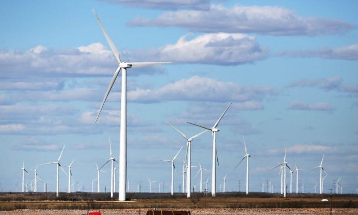 美國德州議員正努力通過立法阻止一家中國公司在當地修建風電場,以防止中共威脅美國的關鍵基礎設施安全。此為示意圖。(Spencer Platt/Getty Images)