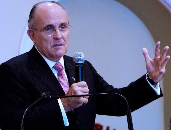 前紐約市長朱利亞尼(Rudy Giuliani)。(RALPHSON DAVID/AFP/Getty Images)