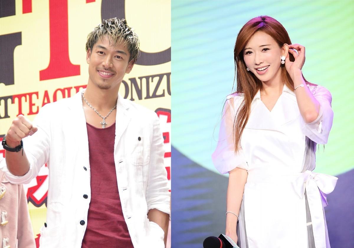 台灣名模林志玲6月6日和日本團體放浪兄弟的AKIRA結婚。(大紀元,甲上娛樂提供/大紀元製圖)