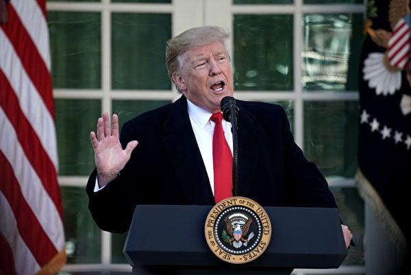 美國總統特朗普7月16日發表推文表示,將會審查谷歌和中共的關係。(Alex Wong/Getty Images)
