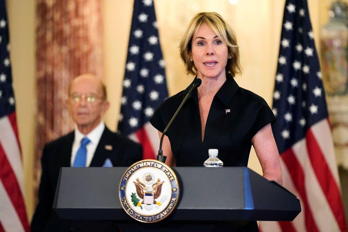 美國駐聯合國大使克拉夫特(Kelly Craft)將訪問台灣。(PATRICK SEMANSKY/POOL/AFP via Getty Images)
