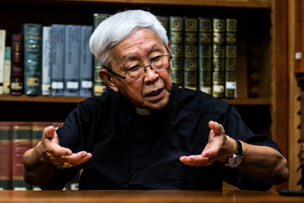 2020年9月11日,香港退休樞機主教陳日君接受法新社採訪。在他還是個少年的時候,為了躲避中共對宗教的迫害,他逃到了香港。(ISAAC LAWRENCE/AFP via Getty Images)