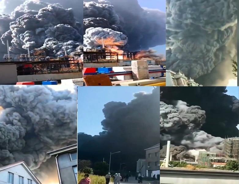 浙江化工廠火災村民無助 濃煙散至他市疑有劇毒