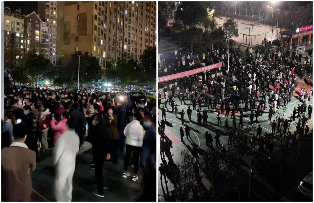 應城小區業主抗議高價菜,遭當局秋後算賬。(網絡圖)