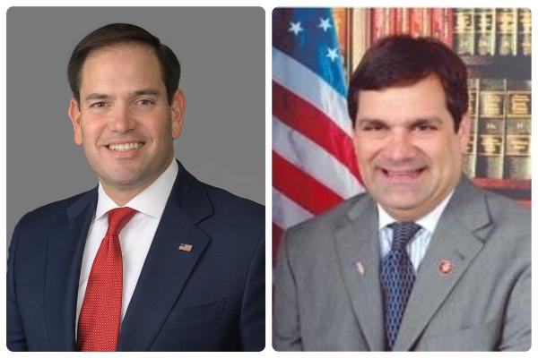 左:美國聯邦參議員馬可‧魯比奧(Marco Rubio);右:聯邦眾議員戈斯‧比利拉基斯(Gus Bilirakis)。(大紀元合成圖)