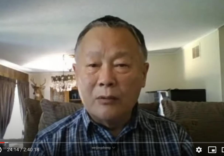 民主活動人士魏京生。(影片截圖)