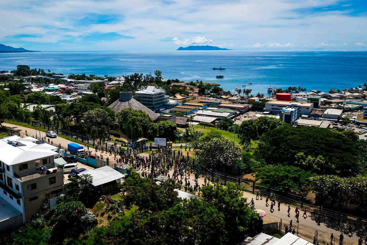 圖為2019年4月24日,所羅門群島(Solomons Islands)首都霍尼亞拉(Honiara)。(ROBERT TAUPONGI/AFP/Getty Images)