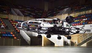 組圖:俄羅斯無人機公司測試飛行的士