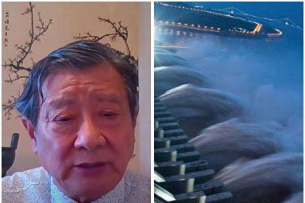 黃觀鴻博士等人近六年來一直致力「用良心和科學看住三峽大壩」,他表示今年的洪水暴露了三峽設計最大缺陷。(影片截圖合成)