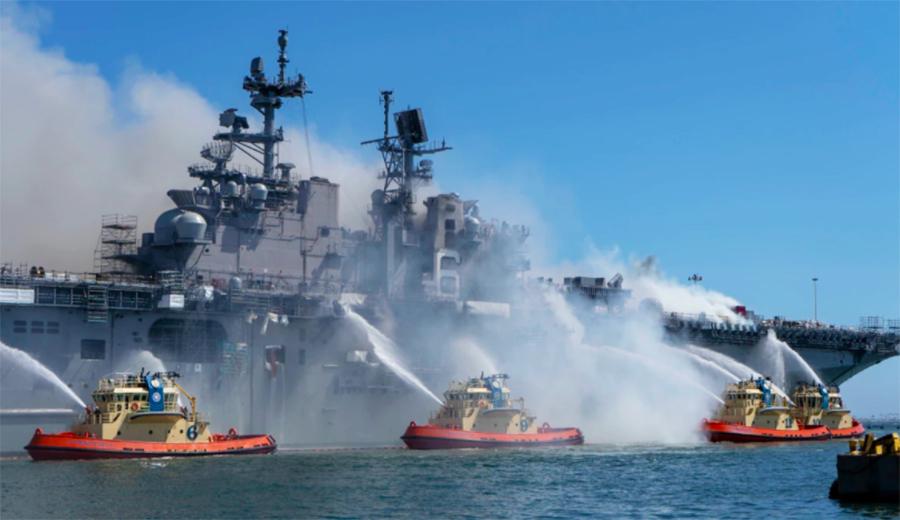 涉嫌縱火燒軍艦 美國海軍水手被起訴