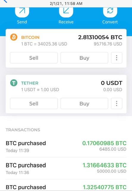 華女士受騙加入的比特幣(Bitcoin)期貨操作平台。(華女士提供)