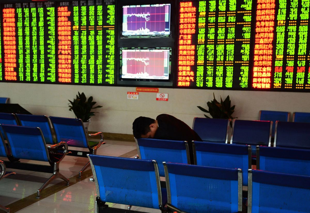 大陸股市今年已經蒸發20萬億。圖為資料圖。(AFP/Getty Images)