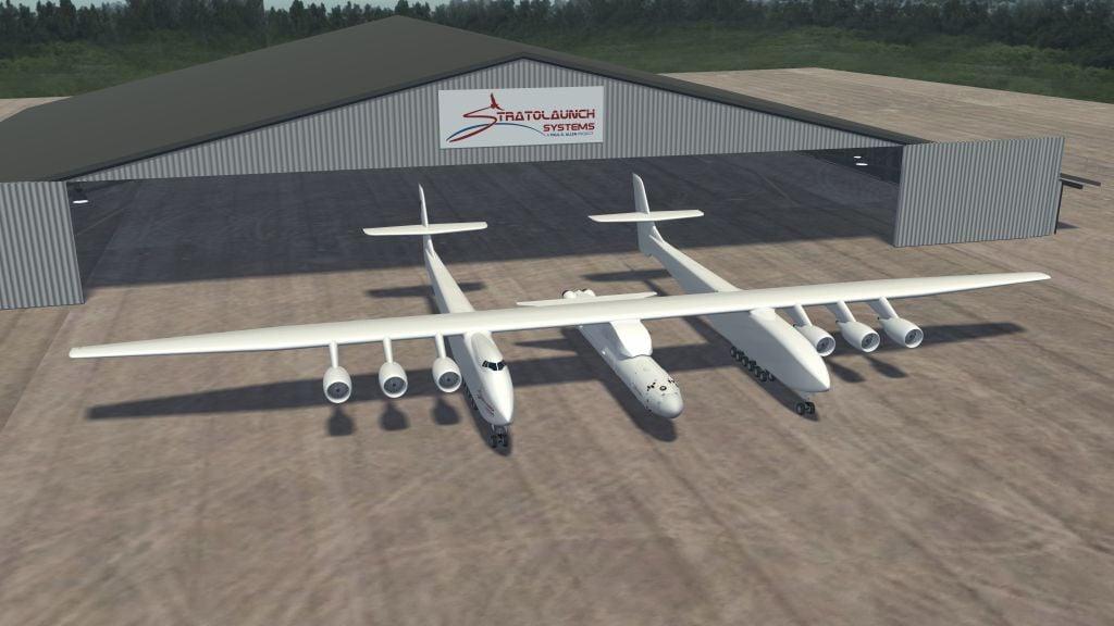 有史以來,世界上最大的「平流層發射(Stratolaunch)」雙體飛機成功完成第二次試飛。(Photo by -/Stratolaunch Systems/AFP via Getty Images)