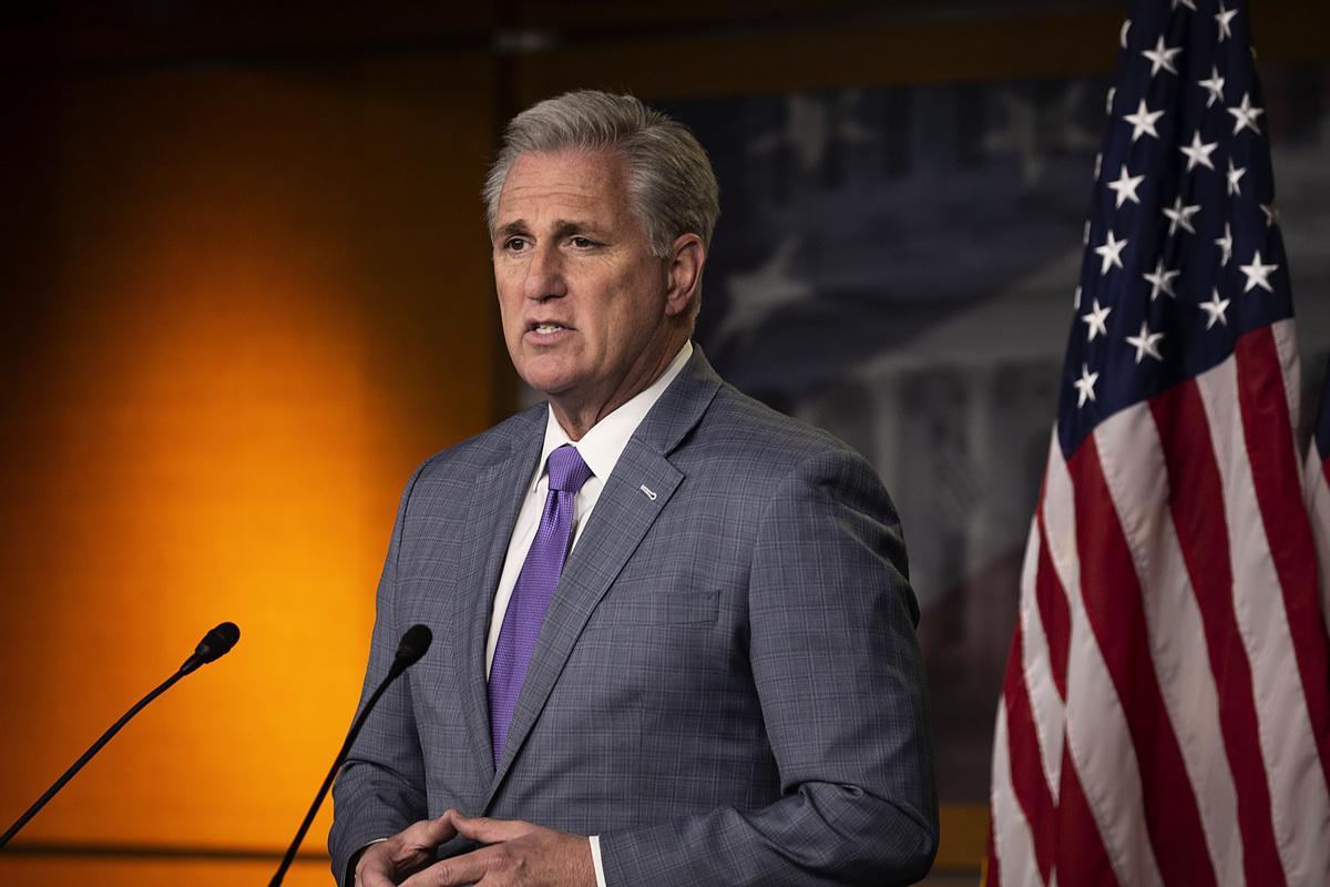 眾議院少數黨領袖凱文‧麥卡錫(Kevin McCarthy)。(Tasos Katopodis/Getty Images)