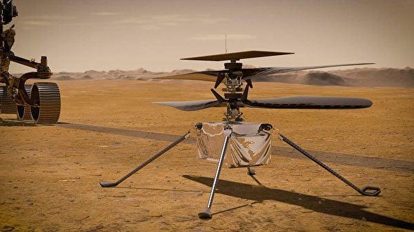 圖為「創新號」火星直升機。(NASA/JPL-Caltech)