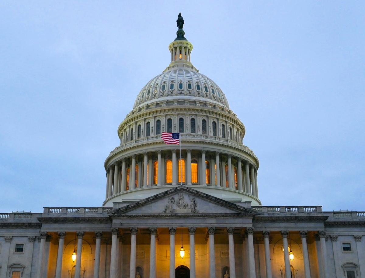 圖為美國國會。(李辰/大紀元)