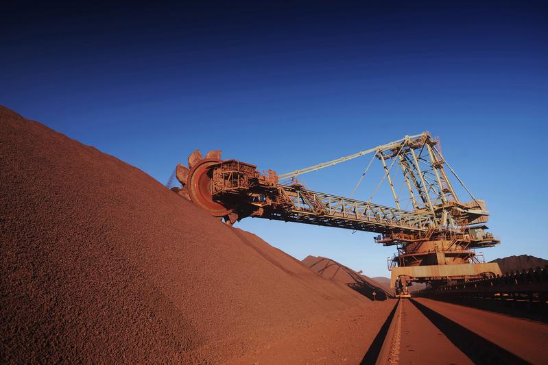 圖為澳洲礦業巨頭必和必拓公司位於西澳的鐵礦礦廠。(BHP BILLITON/AFP)