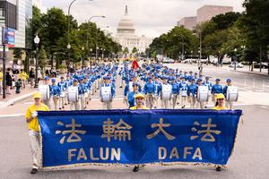組圖:華盛頓DC法輪功學員反迫害大遊行