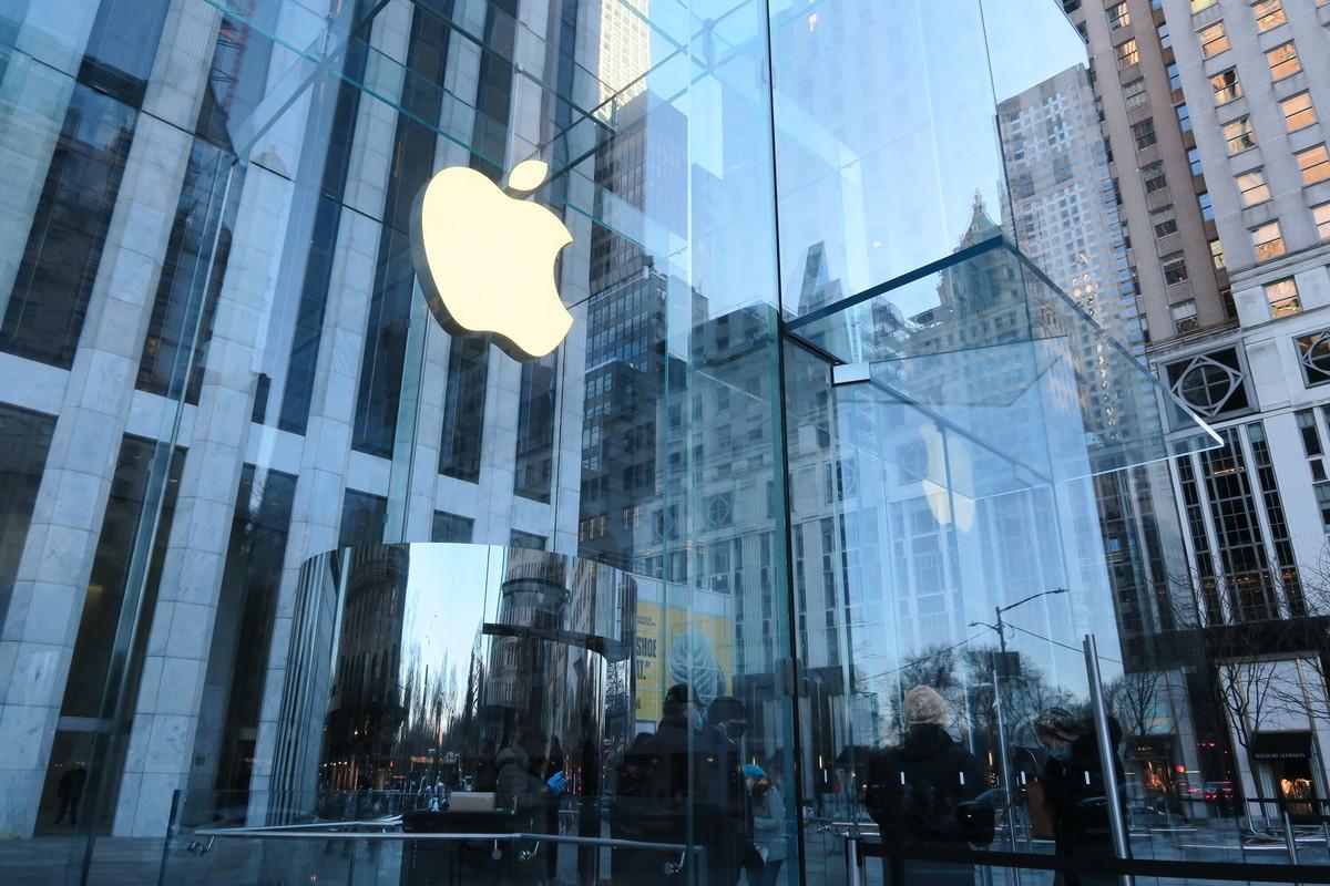 蘋果公司2021會計年度第二季營收年增54%,獲利遠高於華爾街預期,再度繳出亮麗財報。(中央社)