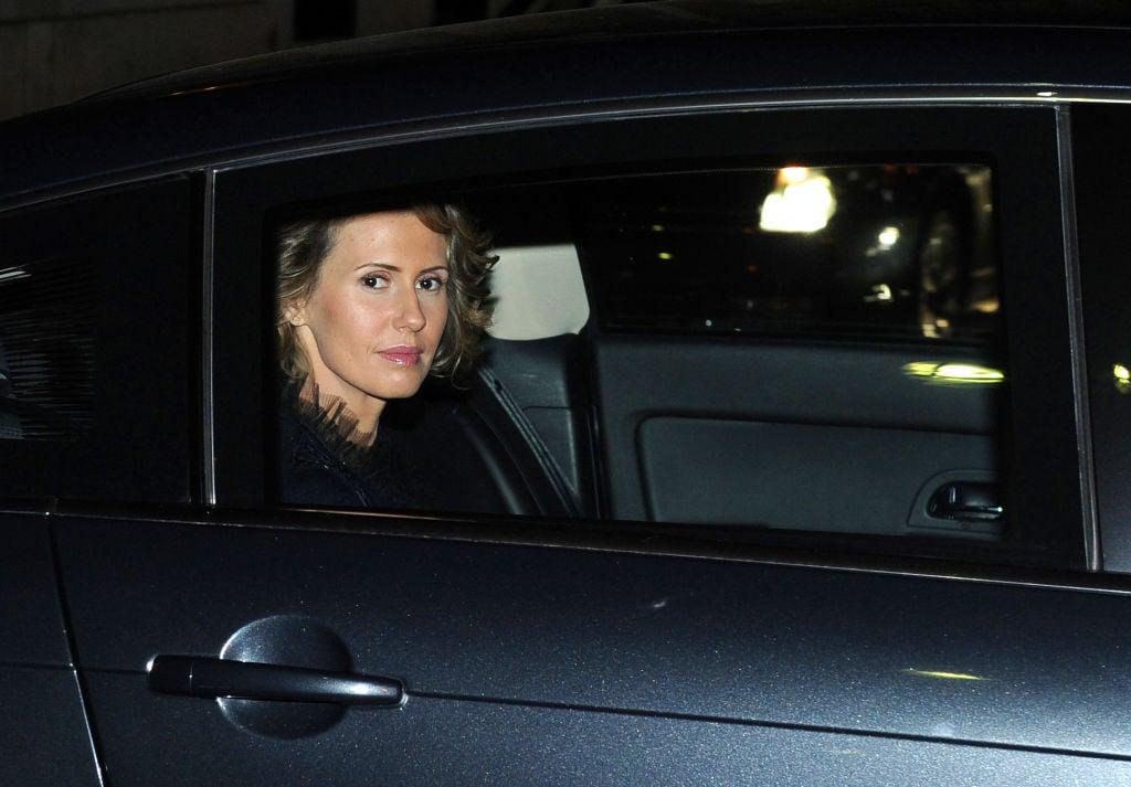 蓬佩奧譴責阿薩德的妻子阿斯瑪,「已成為敘利亞最臭名昭著的戰爭暴利者之一」。(MIGUEL MEDINA/AFP via Getty Images)