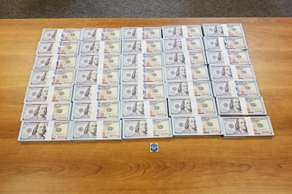 美國海關與邊境保衛局,在密爾沃基緝獲了35.1萬美元、來自中國的假幣。(CBP提供)