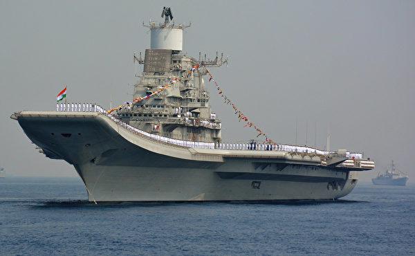 印度航母維克拉瑪蒂號。(STR/AFP via Getty Images)