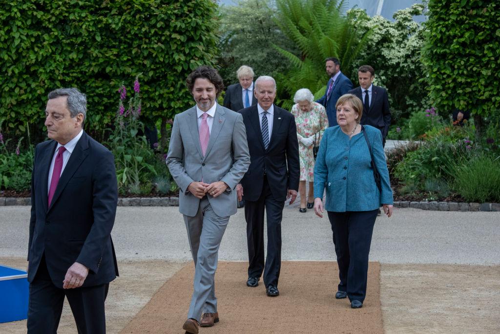 七國集團領導人峰會,在多方面達成共識。(Jack Hill-WPA Pool/Getty Images)