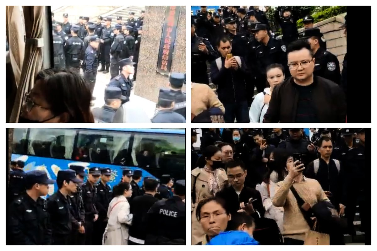 圖為12月24日,深圳零錢罐難友上訪維權,被警方抓上車,後拘禁在深圳南山派出所。(知情人提供)