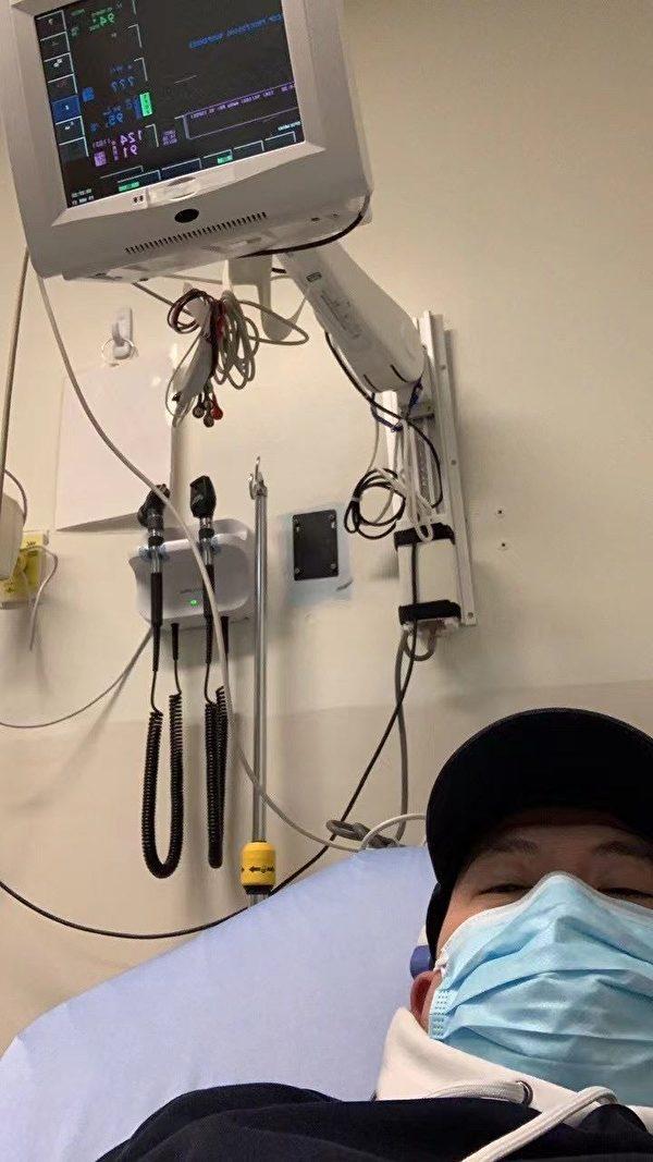 朱瑞剛在醫院做檢查。(明慧網)