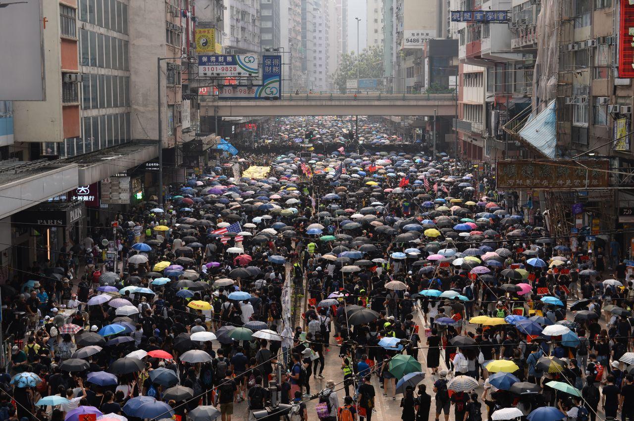 台灣居民李孟居和一名伯利茲籍商人因為支持香港抗議活動,而被大陸抓捕。圖為香港抗議。(宋碧龍/大紀元)