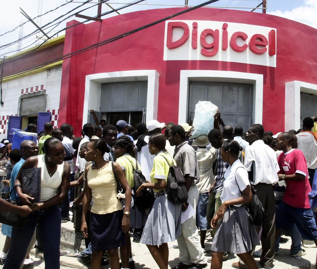 圖為位於加勒比海太子港(太子港)的Digicel公司辦公室。 (THONY BELIZAIRE/AFP via Getty Images)