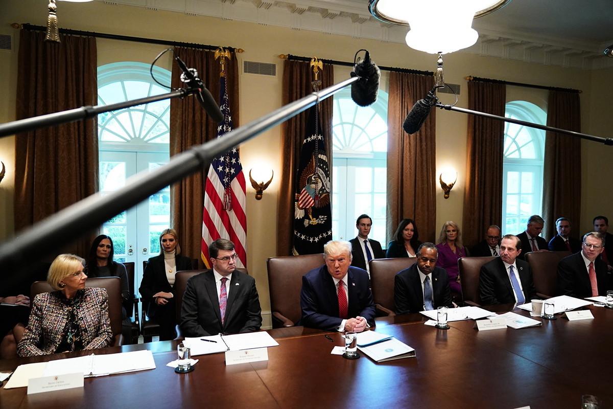 美國總統特朗普周二(11月19日)表示,如果與北京方面沒有達成任何協議,美國將提高對中國進口產品的關稅。(Photo by MANDEL NGAN / AFP)