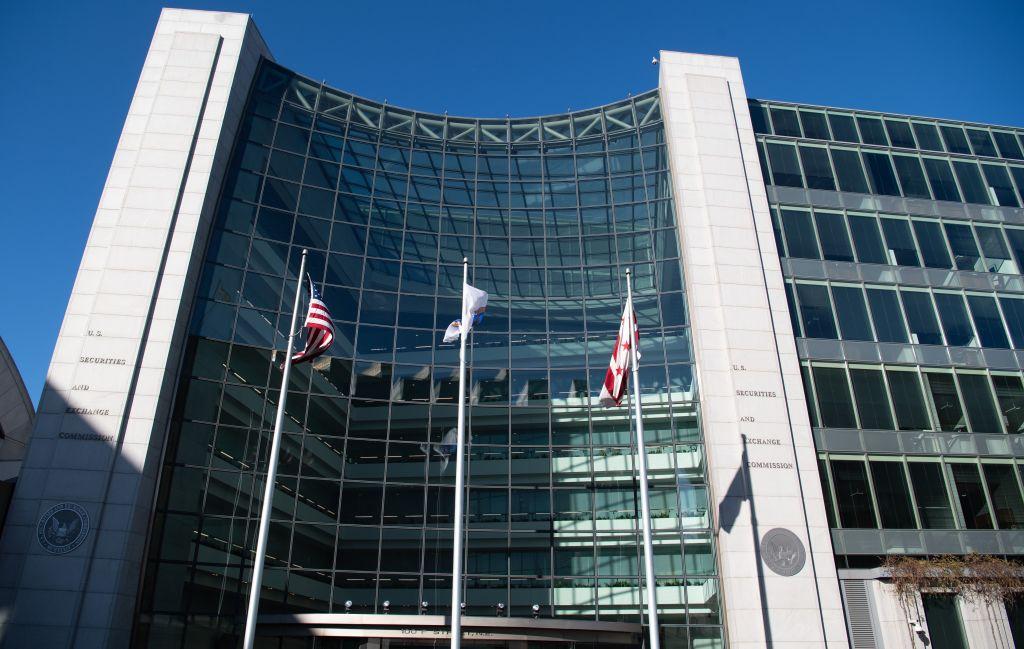 位於華盛頓特區的美國證券交易委員會(SEC)總部。(Photo by SAUL LOEB/AFP via Getty Images)