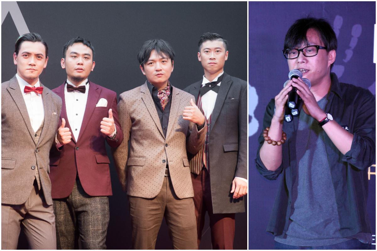 台灣滅火器樂團(左)與香港作詞人林夕(右)合作的新歌《雙城記》(City of Sadness,悲傷之城)11月15日上線。(陳柏州、潘在殊/大紀元)