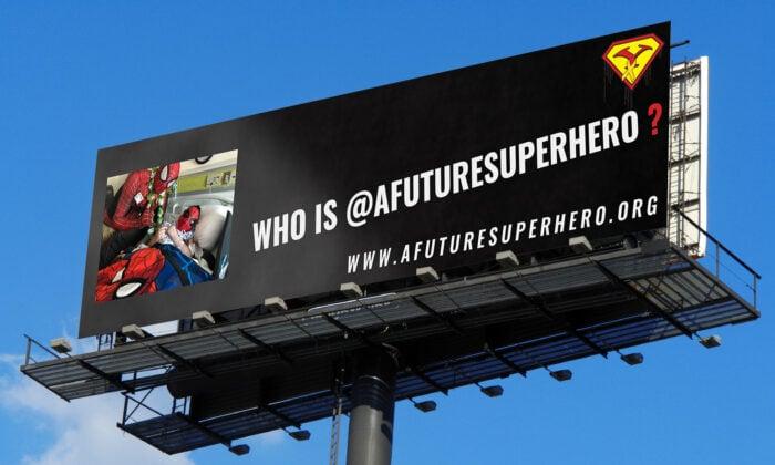 尤里‧威廉姆斯是「未來超級英雄和朋友」的創始人。他到醫院看望生病的孩子,給退伍軍人和無家可歸的人提供食物等。他做所有這些的時候都是裝扮成蜘蛛俠或其他著名的電影角色。(由尤里‧威廉姆斯提供)