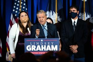 格雷厄姆力挺特朗普 捐50萬美元挑戰問題州