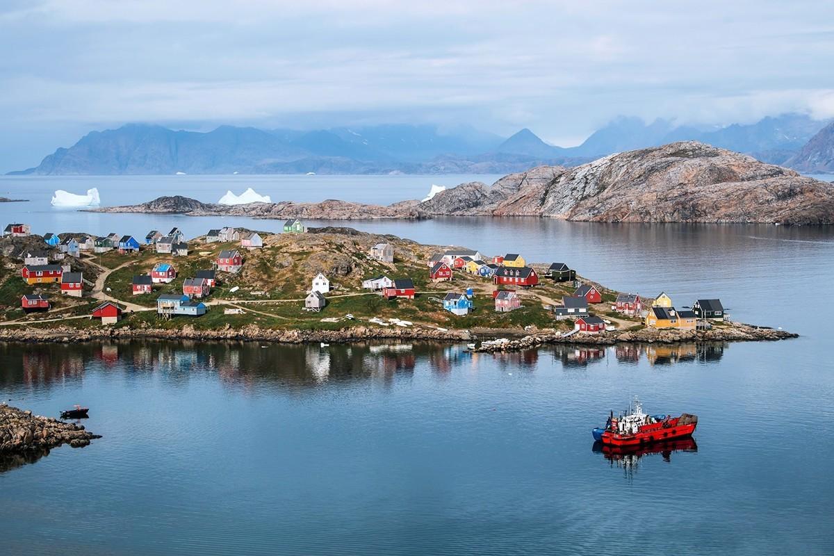 特朗普總統8月23日接獲丹麥總理梅特·弗雷德里克森(Mette Frederiksen)來電。美國將在格陵蘭建立領館。圖為格陵蘭島。(Jonathan NACKSTRAND/AFP)