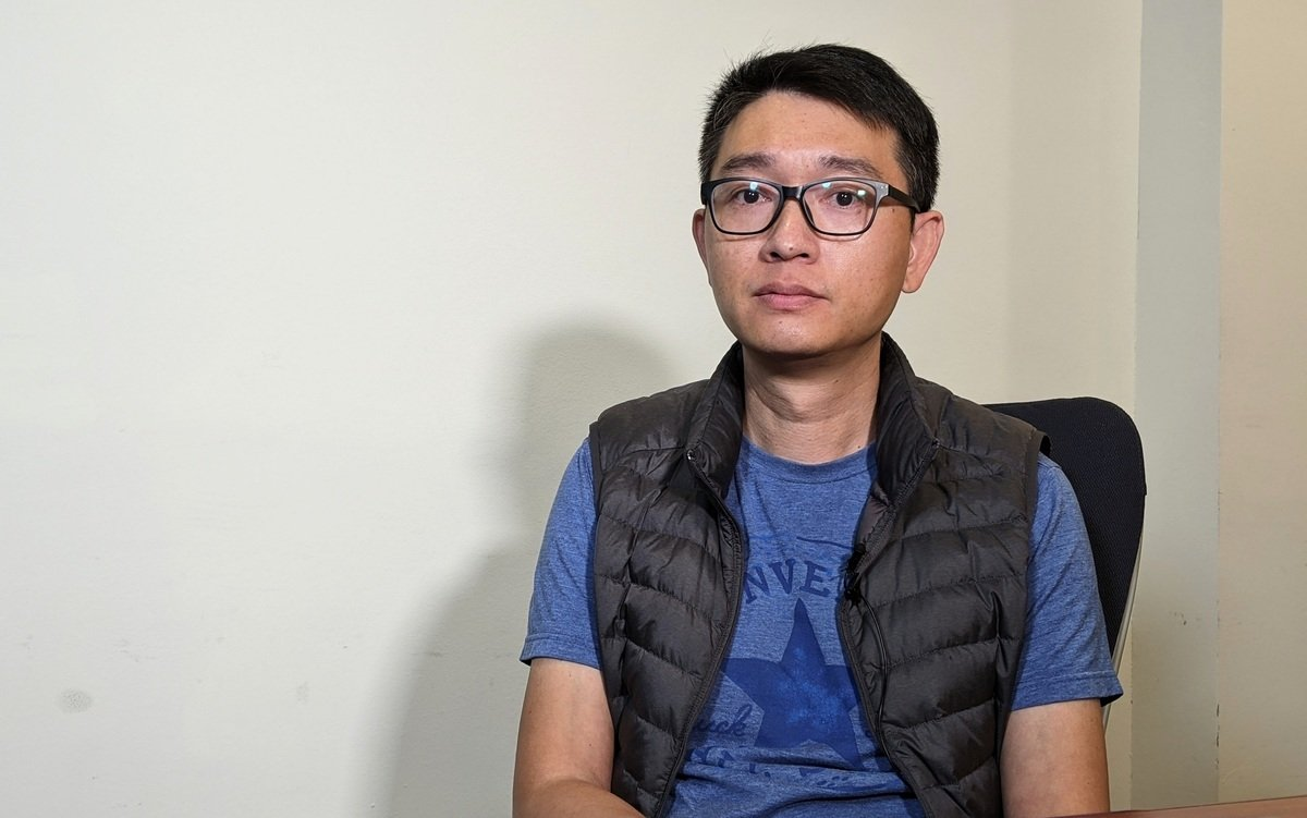 18日,龔平接受洛杉磯大紀元採訪。(徐繡惠/洛杉磯報道)