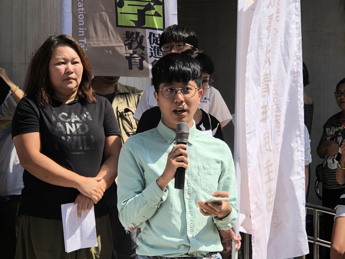 台灣青年民主協會秘書長張育萌。資料圖。(徐翠玲/大紀元)
