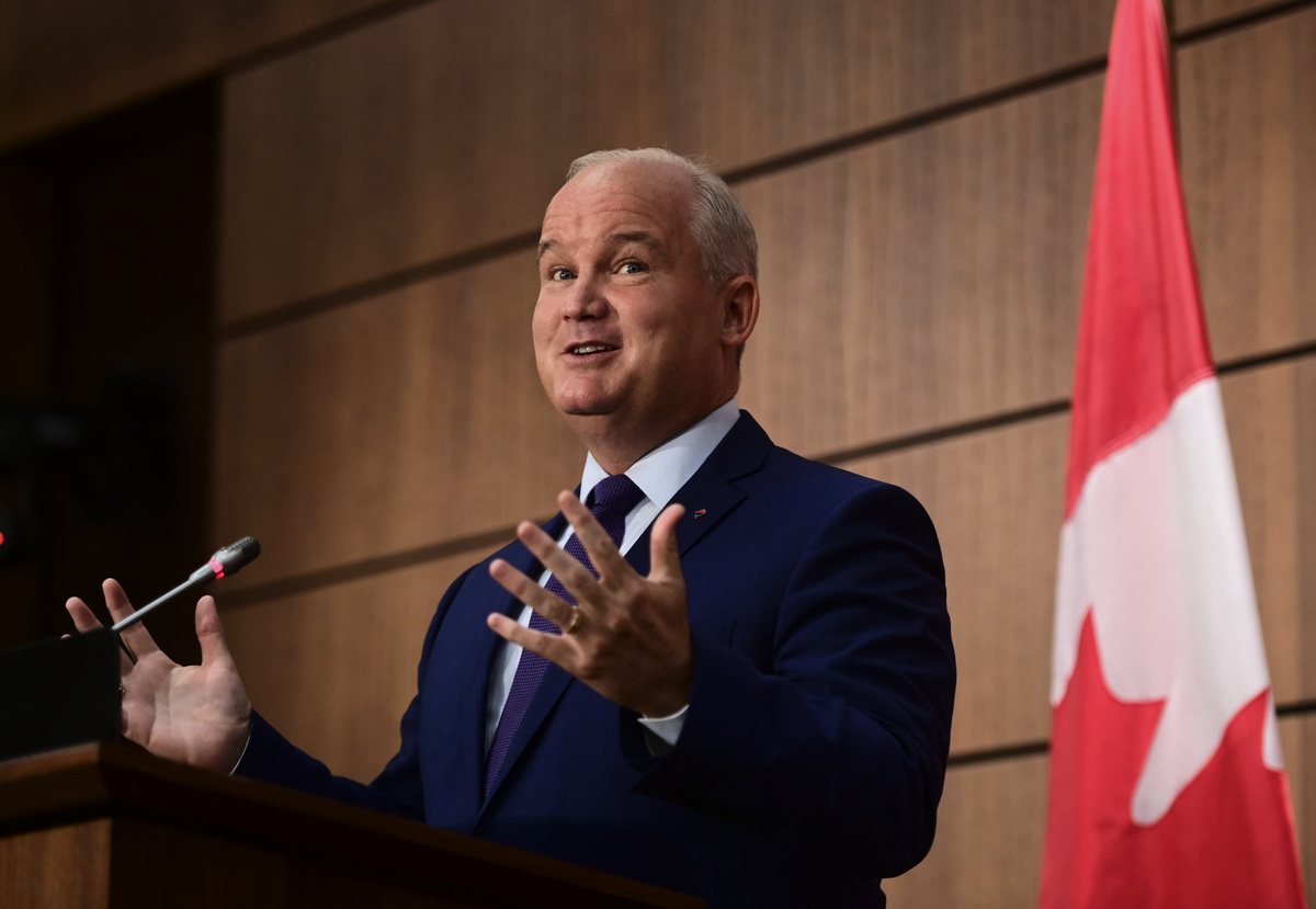 加拿大保守黨新任領袖奧圖爾(Erin O'Toole)提出了「加拿大優先」的口號,這可能就是下次聯邦大選時,保守黨的競選口號。(加通社)
