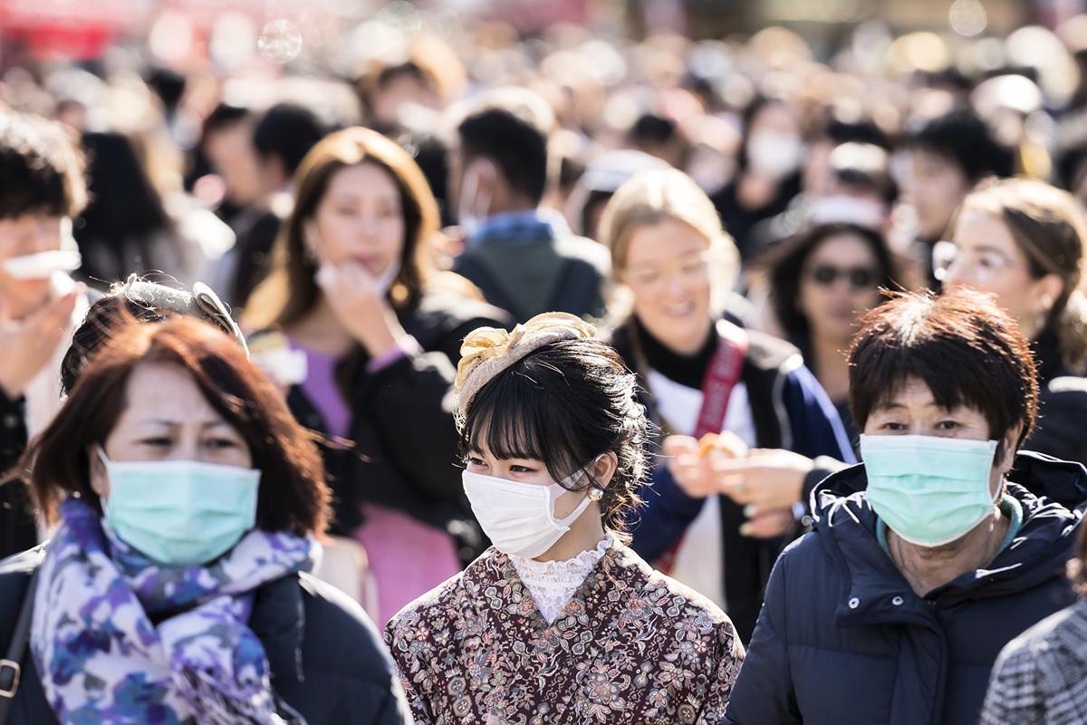 日本出現首例確診後才出現症狀的中共肺炎患者。(Tomohiro Ohsumi/Getty Images)