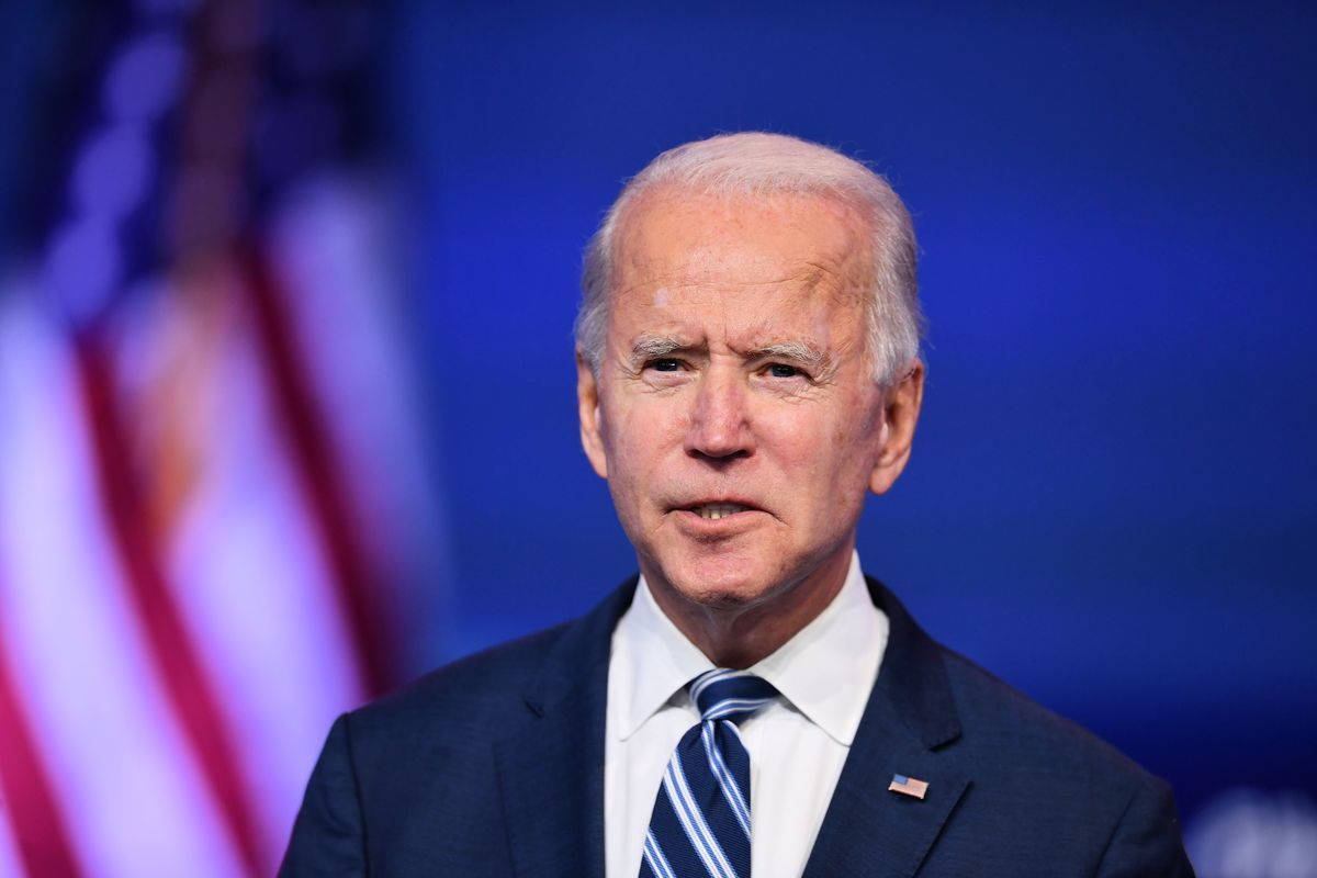 圖為美國民主黨總統候選人拜登(Joe Biden)。(ANGELA WEISS/AFP via Getty Images)