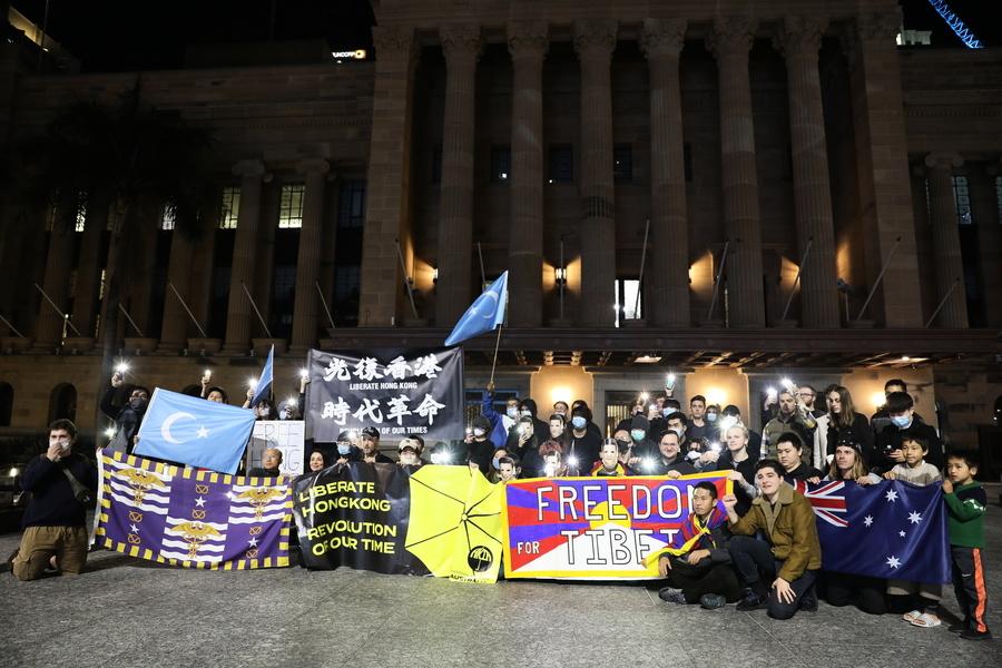 澳布市民眾集會 抗議中共實施港版國安法