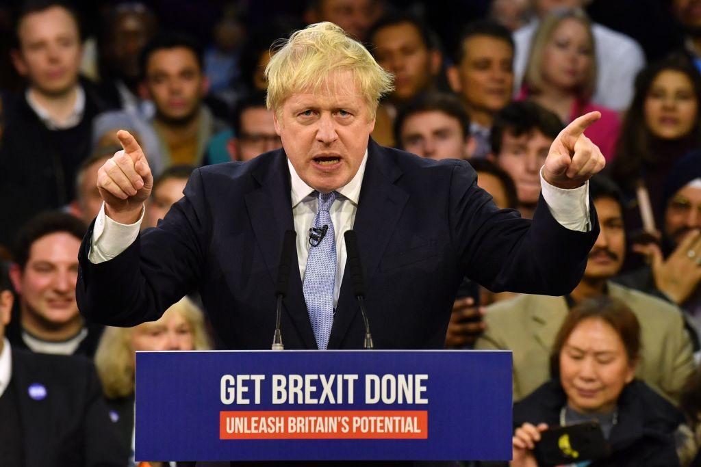 大選實現了約翰遜的願望,但是他未來五年的路並不好走。(BEN STANSALL/AFP via Getty Images)
