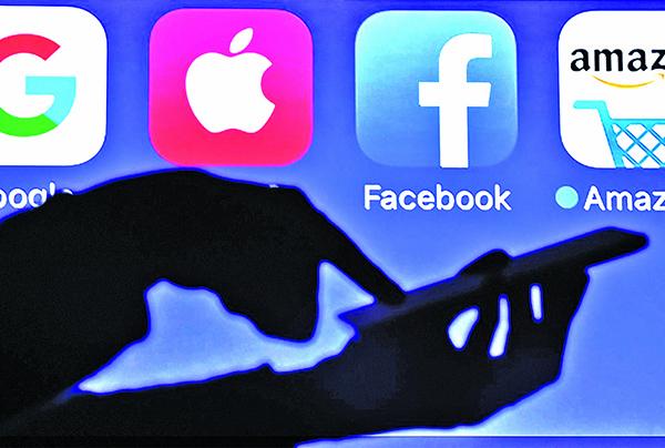 由面書、蘋果公司、亞馬遜、網飛和谷歌母公司Alphabet組成的FAANG成了近年熱門的科技概念股。(Getty Images)