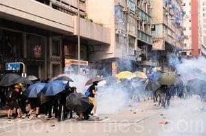 【9.29反極權組圖】香港爆衝突 警察放催淚彈民眾受傷