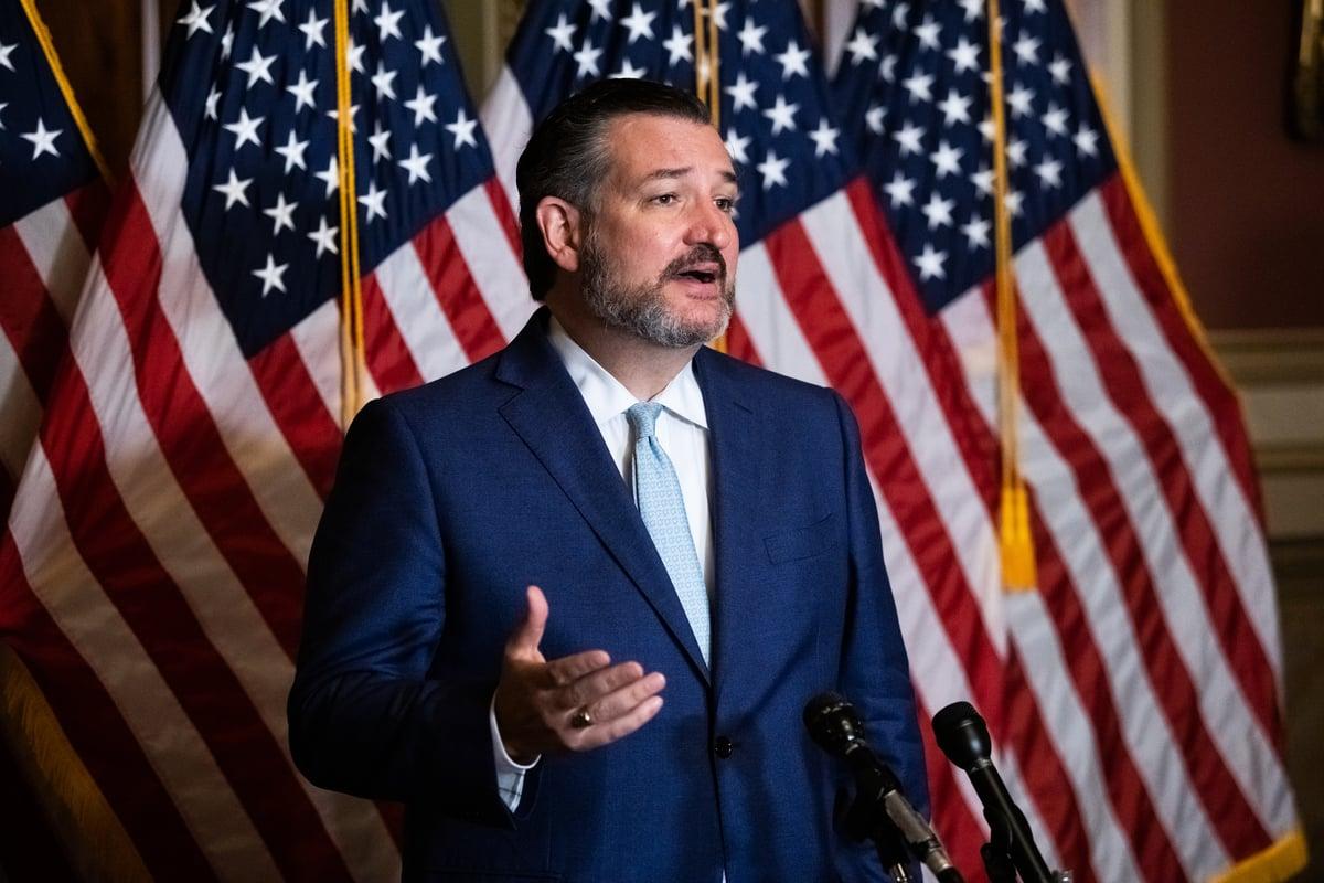 美國資深共和黨參議員特德·克魯茲(Ted Cruz)11月8日堅持認為,特朗普總統「仍然有通往勝利的道路」。(Graeme JENNINGS/POOL/AFP)