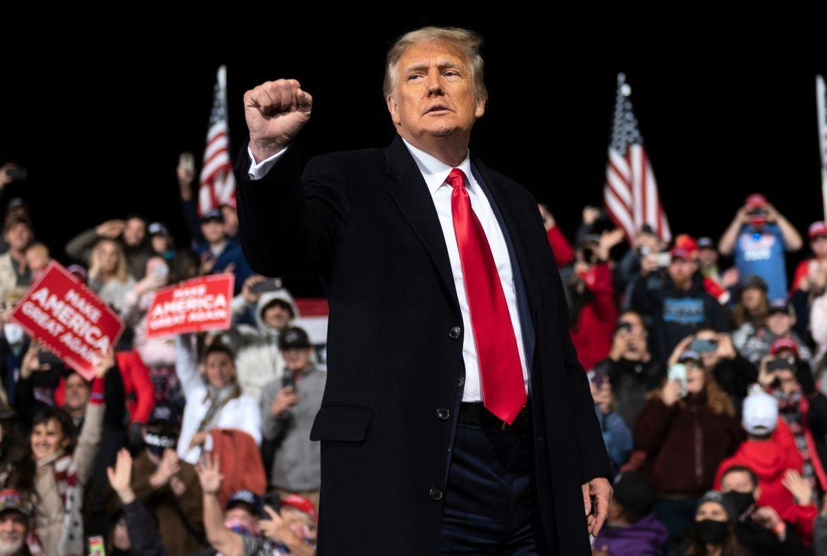 圖為12月5日,美國總統特朗普在佐治亞州參加集會。(ANDREW CABALLERO-REYNOLDS/AFP via Getty Images)